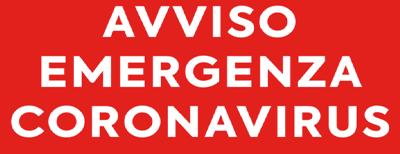 AVVISO CORONA VIRUS