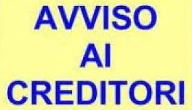Avviso ai creditori